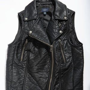 "Vegan ""leather"" moto rocker vest"
